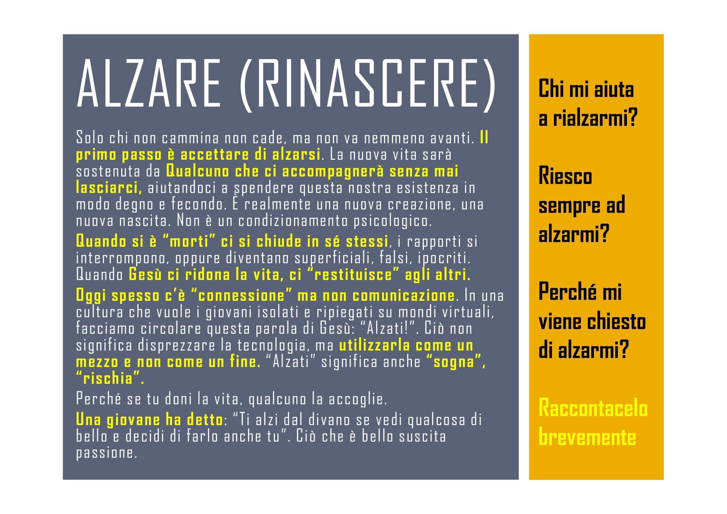 ALZARE (RINASCERE)